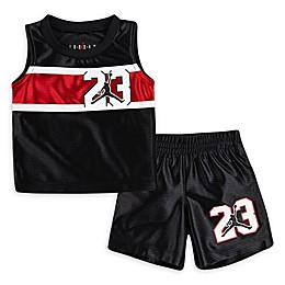 Jordan 2-Piece Muscle Shirt and Short Set in Black