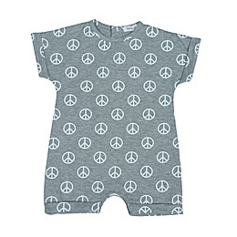 Little Mish Peace Romper in Grey