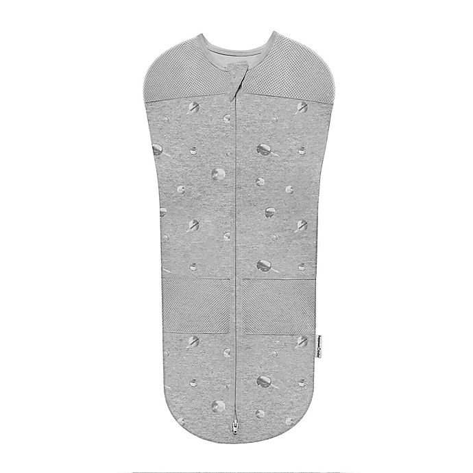 Alternate image 1 for Happiest Baby Sleepea Planets Organic Cotton Swaddle in Grey