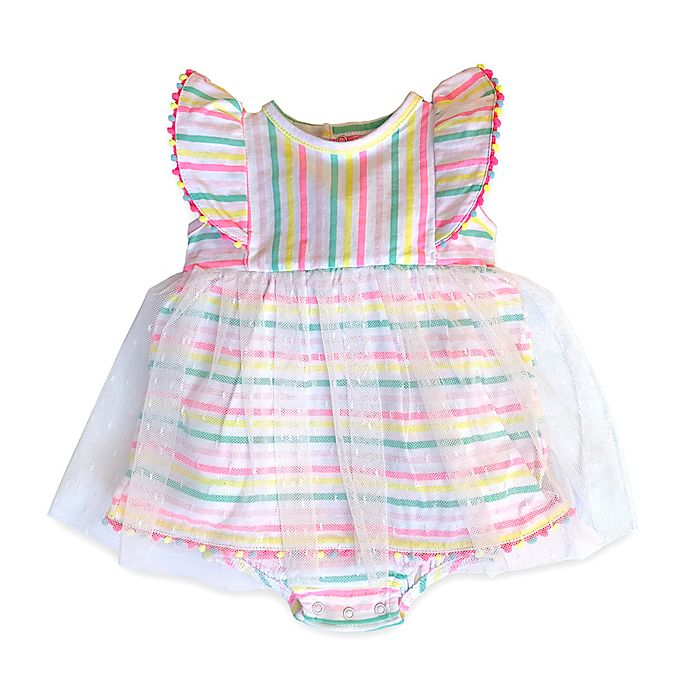 Alternate image 1 for Isaac Mizrahi Stripe Bodysuit Sundress