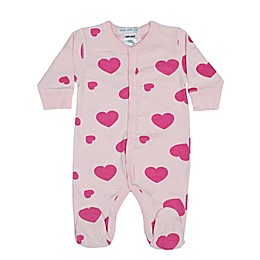 Little Mish Hearts Footie in Pink