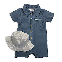 Isaac Mizrahi 2-Piece Romper and Bucket Hat Set in Blue