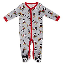 Disney Baby® Mickey Mouse Footie in Grey