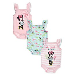 Disney Baby® 3-Pack Minnie Sleeveless Bodysuits