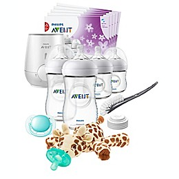 Philips Avent Natural 18-Piece All In One Feeding Gift Set in Clear