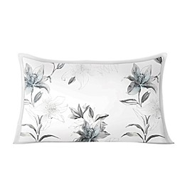 Charisma® Tiger Lilies Standard/Queen Pillow Sham in Grey