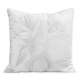 Charisma® Tiger Lilies Square Throw Pillow in Grey