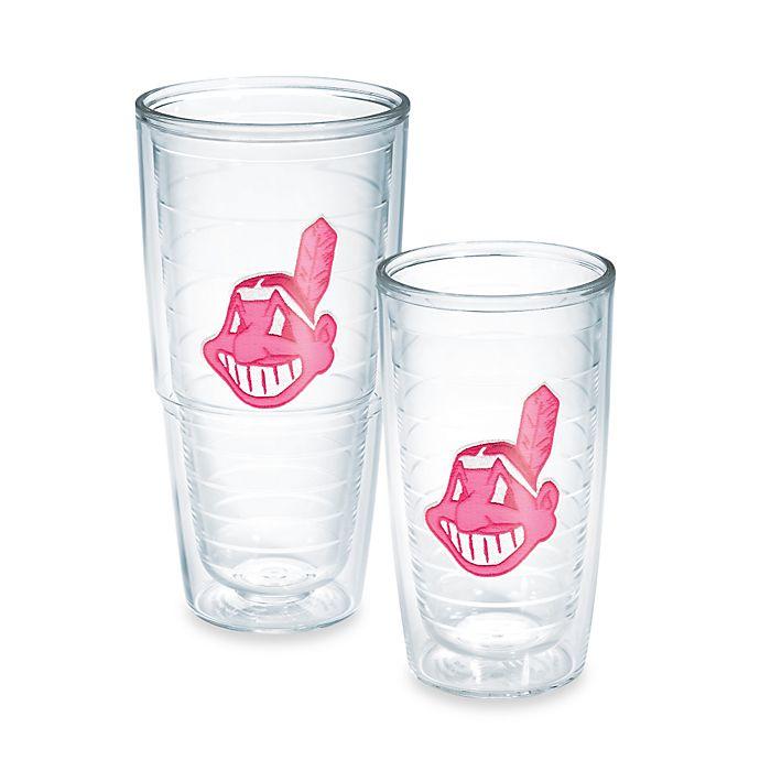 online store 76993 4da9b Tervis® MLB Cleveland Indians Emblem Tumbler in Neon Pink ...