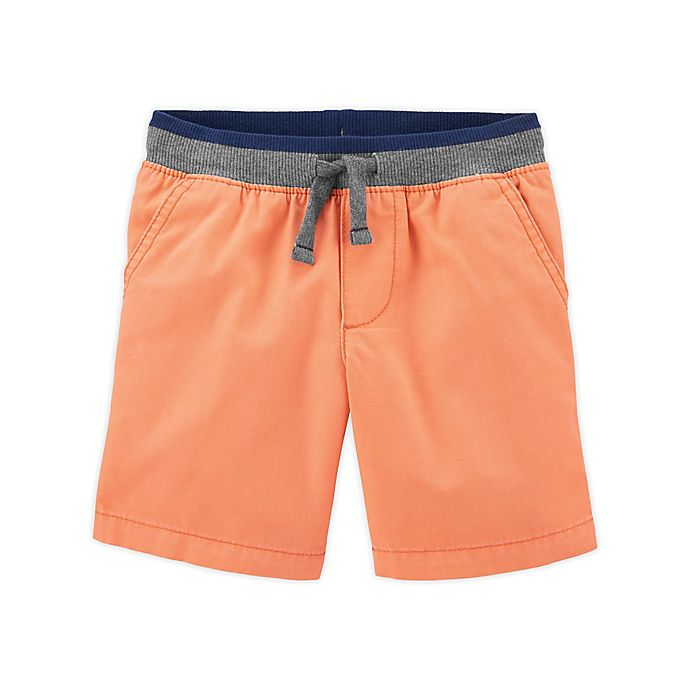 Alternate image 1 for carter's® Size 12M Pull-On Dock Short in Orange