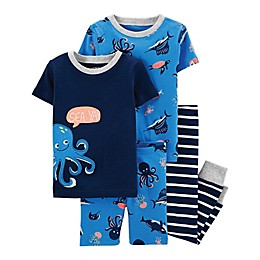 carter's® 4-Piece Short Sleeve Pajama Top and Pant Set