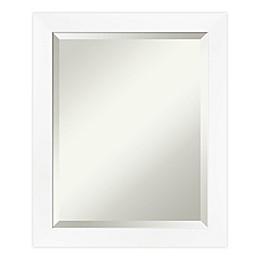 Amanti Art Cabinet Bathroom Vanity Mirror in White