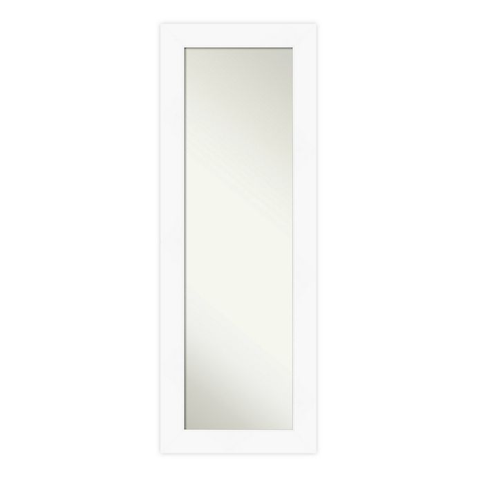 Alternate image 1 for Amanti Art Cabinet Framed On the Door Mirror in White
