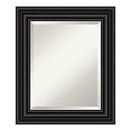 Amanti Art Colonial Bathroom Vanity Mirror in Black