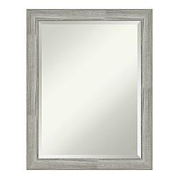Amanti Art Dove Greywash Bathroom Vanity Mirror in Grey