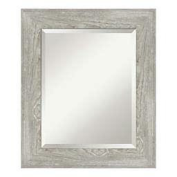 Amanti Art Dove Greywash 22-Inch x 26-Inch Bathroom Vanity Mirror in Grey