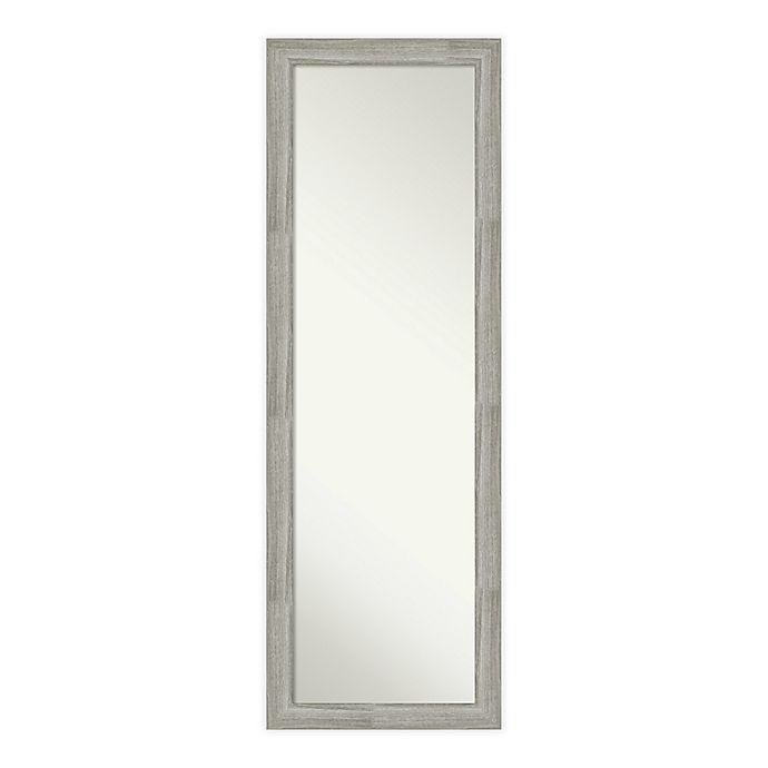 Alternate image 1 for Amanti Art Dove Greywash Framed On the Door Mirror in Grey