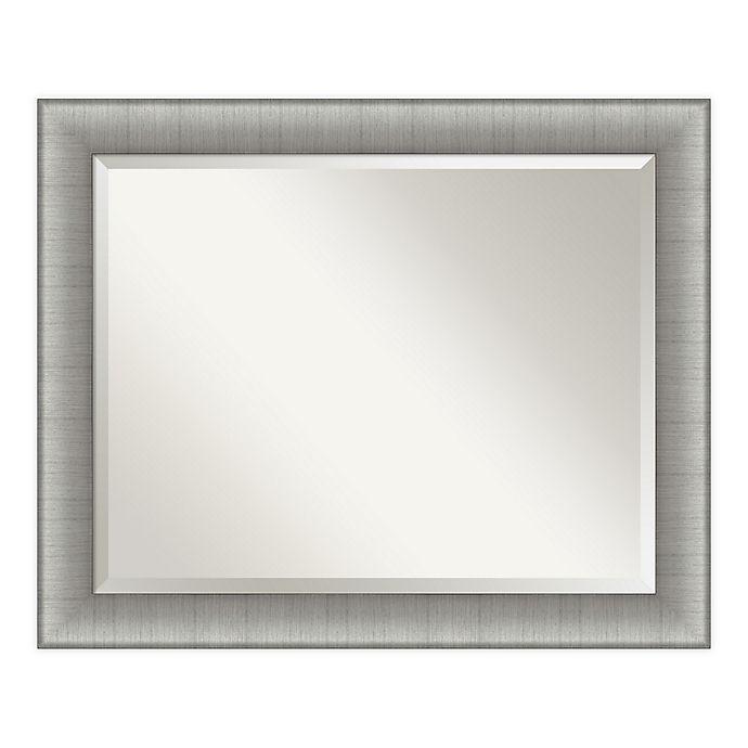Alternate image 1 for Amanti Art Elegant Brushed Pewter Framed Bathroom Vanity Mirror in Nickel/Silver