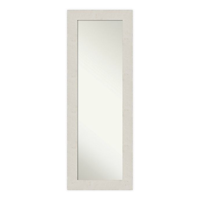 Alternate image 1 for Amanti Art Rustic Plank Framed On the Door Mirror in White/Beige