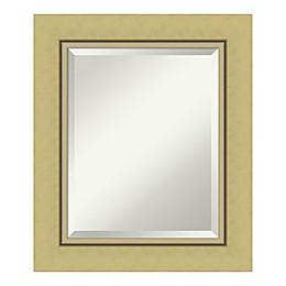 Amanti Art Landon Framed Bathroom Vanity Mirror in Gold