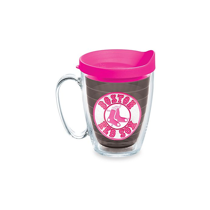 Alternate image 1 for Tervis® Tumbler Neon Pink MLB Boston Red Sox 15-Ounce Mug with Lid