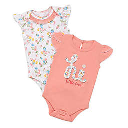Baby Starters® Size 6M 2-Pack Little Love Bodysuits in Peach