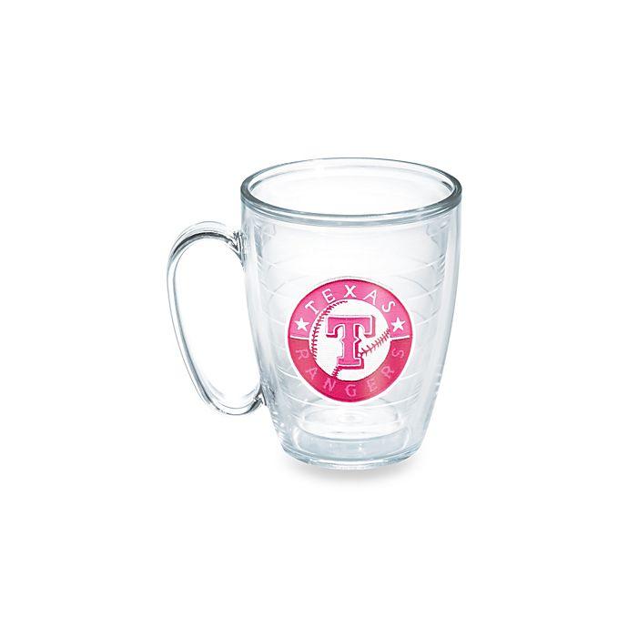 Alternate image 1 for Tervis® Tumbler Neon Pink MLB Texas Rangers 15-Ounce Mug