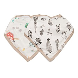 Loulou Lollipop® 2-Pack Animal Farm Bandana Bibs
