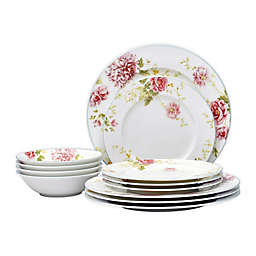 Noritake® Peony Pageant 12-Piece Dinnerware Set