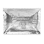 Wendell August Chicago Skyline Hudson Rectangular Aluminum Tray