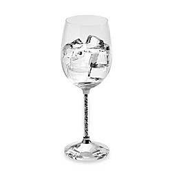 Oleg Cassini Crystal Hematite Goblets (Set of 2)
