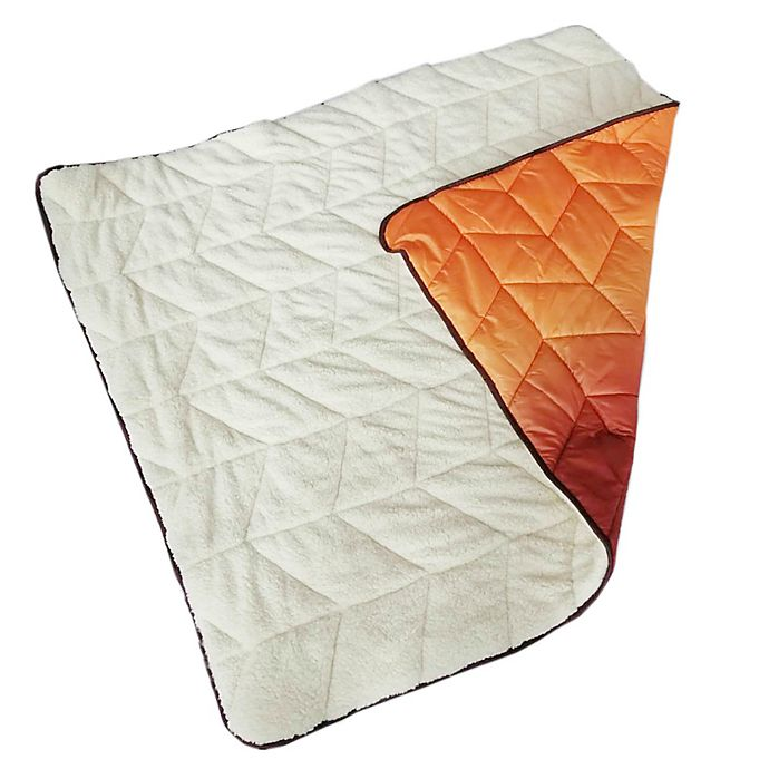 Alternate image 1 for Wamsutta® Puffer Throw Blanket in Orange