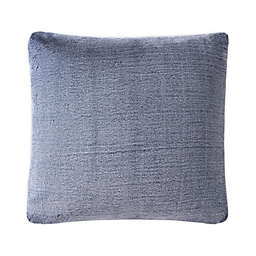 UGG® Dawson Tipped Faux Fur Square European Throw Pillow in Navy
