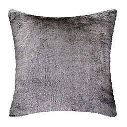 UGG® Dawson Tipped Faux Fur Square European Throw Pillow in Charcoal