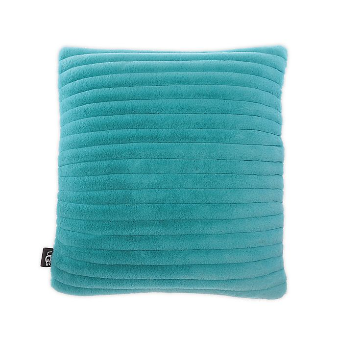 Alternate image 1 for UGG® Fluff Faux Fur Quilted Throw Pillow