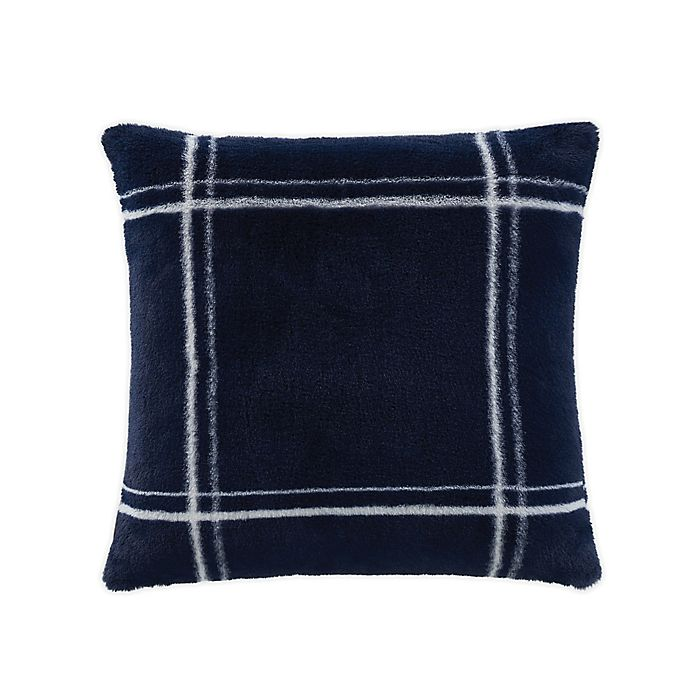 Alternate image 1 for UGG® Rowan Faux Polar Fur Square Throw Pillow