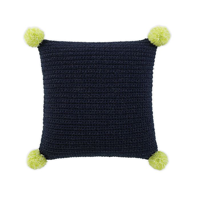 Alternate image 1 for UGG® Verbana Knit Square Throw Pillow in Navy