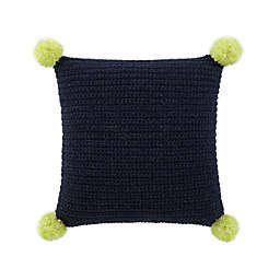 UGG® Verbana Knit Square Throw Pillow in Navy