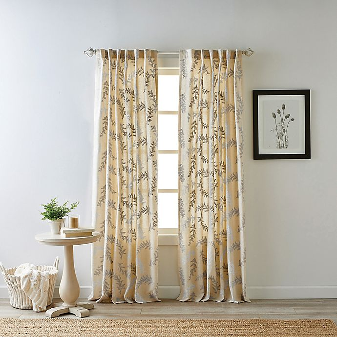 Alternate image 1 for Bee & Willow™ Home Bedford 84-Inch Rod Pocket Window Curtain Panel in Natural