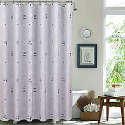Nautical Day 72-Inch x 72-Inch Shower Curtain in Blue