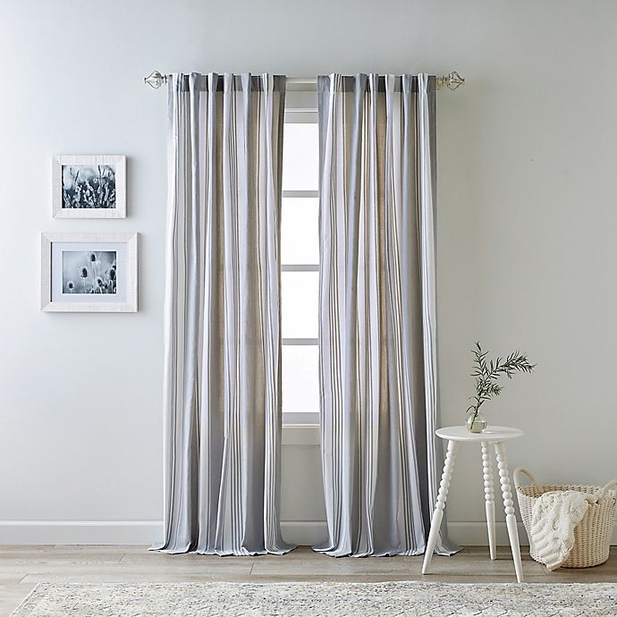 Alternate image 1 for Bee & Willow™ Home Quincy 84-Inch Rod Pocket/Back Tab Window Curtain Panel in Grey