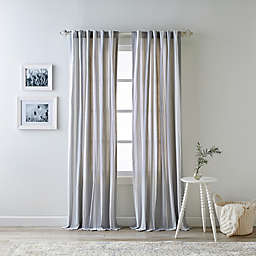 Bee & Willow™ Home Quincy 84-Inch Rod Pocket/Back Tab Window Curtain Panel in Grey