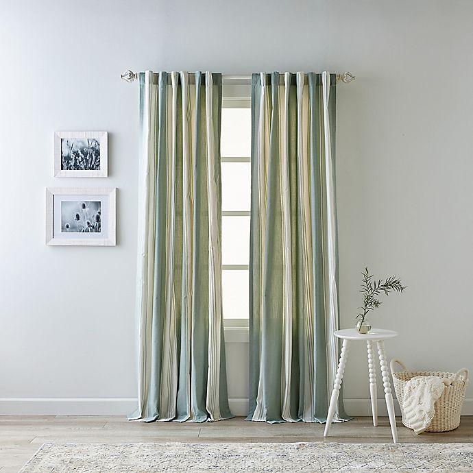 Alternate image 1 for Bee & Willow™ Home Quincy 95-Inch Rod Pocket/Back Tab Window Curtain Panel in Green