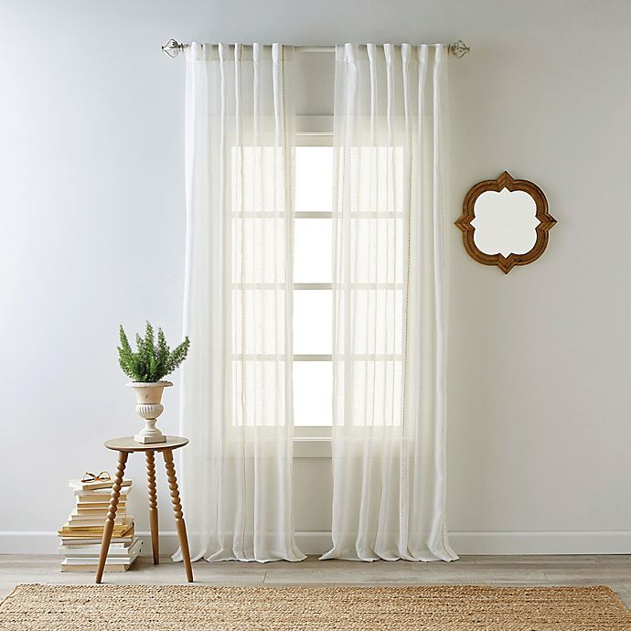 Alternate image 1 for Bee & Willow™ Home Kai Sheer Rod Pocket with Back Tab Window Curtain Panel