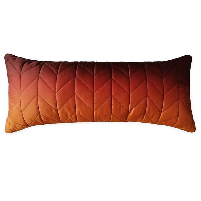 Alternate image 1 for Wamsutta® Chevron Puffer Oblong Throw Pillow in Orange