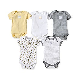 Burt's Bees Baby® 5-Pack Sunshine Organic Cotton Short Sleeve Bodysuits