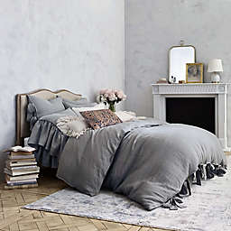 Wamsutta® Vintage Abigall Queen Duvet Cover in Grey