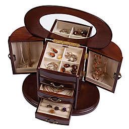 Mele & Co. Walnut Heloise Wood Jewelry Box