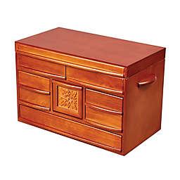Mele & Co. Empress Wooden Jewelry Box in Walnut