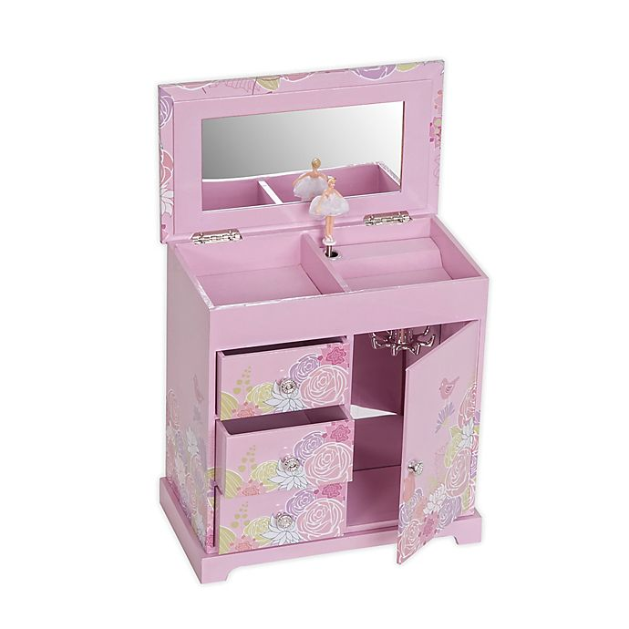 Alternate image 1 for Mele & Co. Pearl Girl's Musical Ballerina Jewelry Box in Pink