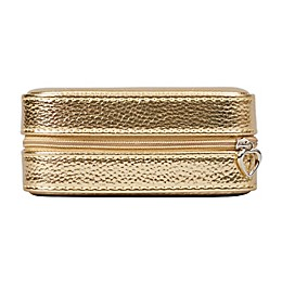 Mele & Co. Luna Metallic Faux Leather Travel Jewelry Case